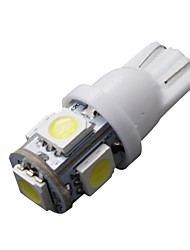 cheap -2 x Bright White T10 LED License Plate Light Bulbs -194 2825 168 158 5-SMD Wedge