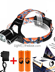 U'King ZQ-X823 Headlamps Headlamp Straps Headlight LED 9000LM lm 4 Mode Cree XM-L T6 Compact Size High Power Easy Carrying for