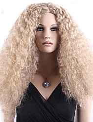 Capless High Quality Synthetic Blonde Long Curly Synthetic Wigs