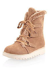 Women's Boots Spring / Fall / Winter Platform / Snow Boots / Fashion Boots Leatherette Outdoor / Casual Platform Lace-up