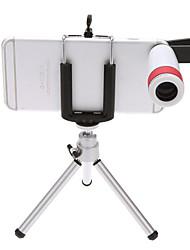 billige Tripods, monopods og tilbehør-mobiltelefon teleskop 8 ganger utendørs visning nattsyn monocular teleskop med stativ universell klipp