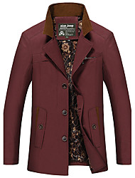 The winter men's coats slim type in the long section of young men's Korean male cashmere coat with the tide