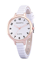 levne -REBIRTH Dámské Křemenný Náramkové hodinky / Hodinky na běžné nošení PU Kapela Na běžné nošení Minimalistické Módní Černá Bílá Červená