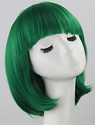 economico -Donna Parrucche sintetiche Pantaloncini Dritto Verde Taglio medio corto Parrucca Cosplay Parrucca per travestimenti