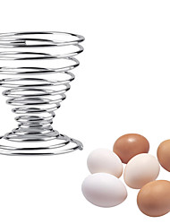 cheap -1Pcs Stainless Steel Spring Wire Tray Boiled Egg Cups Holder Stand Storage Eggs Tools
