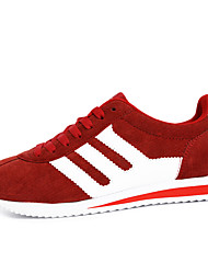 Men's Sneakers Spring / Fall Flats Fabric Athletic / Casual Flat Heel  / Lace-up Blue / Red / Gray
