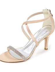 economico -Per donna Scarpe Raso Primavera / Estate Anello per dita del piede scarpe da sposa Occhio di pernice Con diamantini Blu / Champagne /