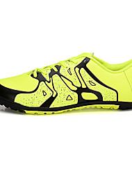abordables -Chico Zapatos PU Tul Primavera Otoño Confort Zapatillas de Atletismo Fútbol Con Cordón para Deportivo Naranja Gris Verde Azul