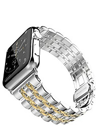cheap -Watch Band For Apple Watch 3 38mm 42mm Stainless Steel Bracelet Butterfly Buckle