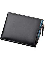 Men Bags All Seasons PU Linen Coin Purse for Formal Professioanl Use Black