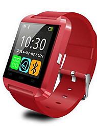 preiswerte -Herrn digital Smartwatch Touchscreen Alarm Kalender Fernbedienungskontrolle Schrittzähler Stopuhr Fitness Tracker Caucho Band Cool Schwarz