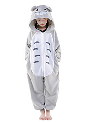 Kigurumi Pajamas Cat Totoro Onesie Pajamas Costume Polar Fleece Gray Cosplay For Kid Animal Sleepwear Cartoon Halloween Festival / Holiday