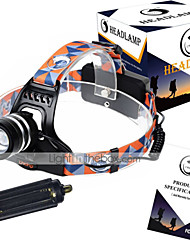 U'King ZQ G7000 Headlamp Straps LED 3000LM lm 3 Mode Cree XM-L T6 Adjustable Focus Rechargeable Compact Size High Power Easy Carrying