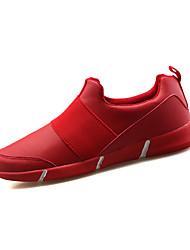 Sneakers-Kanvas-Komfort-Herre-Sort Rød Hvid-Udendørs Fritid-Flad hæl