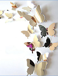 Hot Sale 5Color Mirror Wall Art Wall Stickers Decal 3D Butterflies Home Decors