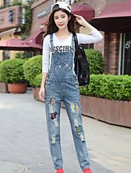 economico -Da donna Casual Media elasticità Jeans Tuta da lavoro Pantaloni Cotone Per tutte le stagioni