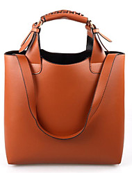 cheap -Women Bags PU Shoulder Bag for Casual Outdoor Office & Career All Seasons Orange Brown Pink