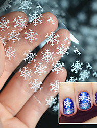 1 Roll 4x100cm Foil Nail Art Sticker Transparent Nail Foil Silver Christmas snowflake Design Transfer Foils Decal Nails