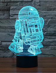 cheap -Robot Touch Dimming 3D LED Night Light 7Colorful Decoration Atmosphere Lamp Novelty Lighting Light