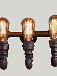 abordables -Rústico / Campestre Lámparas de pared Metal Luz de pared 110-120V / 220-240V 40W