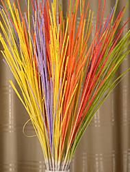 abordables -1 Une succursale Polyester Plastique Plantes Arbre de Noël Fleurs artificielles