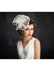 Flax Feather Net Fascinators Headpiece Classical Feminine Style