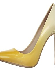 cheap -Women's Shoes Synthetic / Patent Leather / Leatherette Spring / Summer / Fall Heels Walking Shoes Stiletto Heel Polka Dot Yellow / Wedding / Party & Evening / Dress / Party & Evening