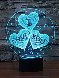 cheap -I LOVE YOU Touch Dimming 3D LED Night Light 7Colorful Decoration Atmosphere Lamp Novelty Lighting Christmas Light
