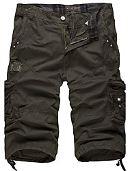 economico -Per uomo Attivo / Militare Cotone Largo / Pantaloncini Pantaloni - Tinta unita / Fine settimana