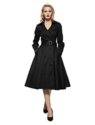 cheap -Maggie Tang Women's 50s VTG Retro Rockabilly Hepburn Pinup Swing Business Dress Parka 586