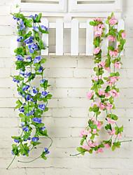 Недорогие -1pc 1 Филиал Полиэстер / Пластик Розы Цветы на стену Искусственные Цветы 78.8inch/200CM