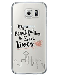 cheap -Beautiful Life Words Pattern Soft Ultra-thin TPU Back Cover For Samsung GalaxyS7 edge/S7/S6 edge/S6 edge plus/S6/S5/S4