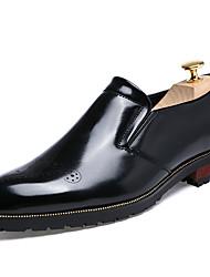 baratos -Homens sapatos Pele Primavera Outono Curta/Ankle Conforto Mocassins e Slip-Ons Caminhada Cadarço para Casual Escritório e Carreira Festas