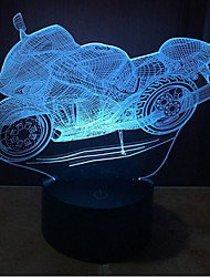 Motorcycle Touch Dimming 3D LED Night Light 7Colorful Decoration Atmosphere Lamp Novelty Lighting Christmas Light