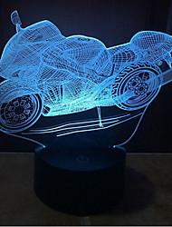 abordables -Moto tactile gradation 3d led nuit lumière 7colorful décoration atmosphère lampe nouveauté éclairage lumière