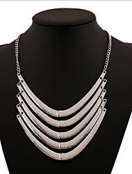 baratos -Mulheres Camadas Colares Declaração / colares em camadas - Importante, Personalizada, Vintage Prata, Dourado Colar Para Festa, Diário, Casual