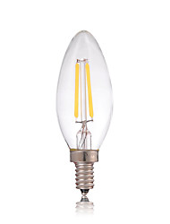 cheap -Dimmable 2W E14 180LM LED Filament Lamp Edison Glass Candle Lights Lighting For Chandelier(AC220-240V)