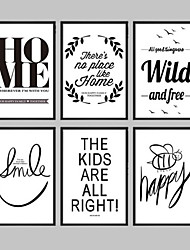 cheap -Framed Canvas Framed Set Abstract Words & Quotes Wall Art, PVC Material With Frame Home Decoration Frame Art Living Room Bedroom Kitchen