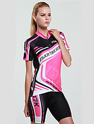 Mysenlan Cycling Jersey with Shorts Women's Short Sleeves Bike Clothing Suits Quick Dry Ultraviolet Resistant Moisture Permeability High