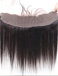 Недорогие -Перуанские волосы 100% ручная работа Прямой Бесплатный Часть Швейцарское кружево Remy / Натуральные волосы