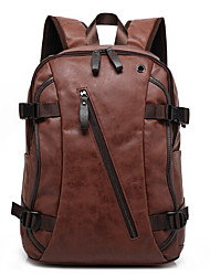 Men Bags Canvas Backpack for Casual Outdoor Black Coffee Brown