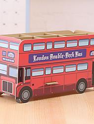 DIY Cardboard Desktop Storage Box(Double-decker Bus)