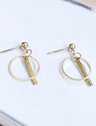 cheap -Earring Circle Drop Earrings Jewelry Women Fashion Wedding / Daily / Casual Alloy 1 pair Gold