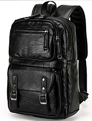 cheap -Men's Bags Cowhide Backpack Zipper for Casual Outdoor All Seasons Black