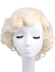 cheap -Synthetic Wig / Cosplay & Costume Wigs Curly Blonde Synthetic Hair Blonde Wig Women's Capless