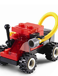 Giocattoli per Ragazzi Action Figure Blocchi Modellino e gioco di costruzione Auto ABS Tutti Rosso