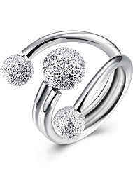 Fine Sterling Silver Grinding Ball Diamond Statement Ring for Women Wedding Party