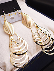 cheap -Women's / Girls' Gold Plated - Party / Fashion Gold / Silver Oval Earrings For Wedding / Party / Casual
