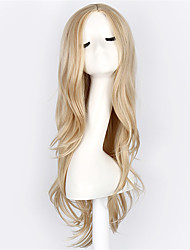 cheap -light blonde long curly wave synthetic wigs for fashion women fashion women ladies light blonde wavy cosplay wig Halloween