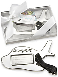 Chrome Airplane Luggage Tag in Elegant White Box Party Souvenir  Beter Gifts® Baby Shower Favors
